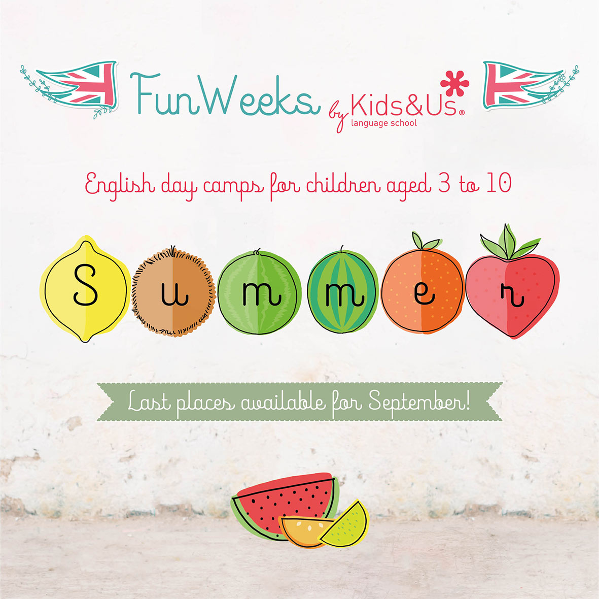 Last Summer Fun Weeks during the month of September!