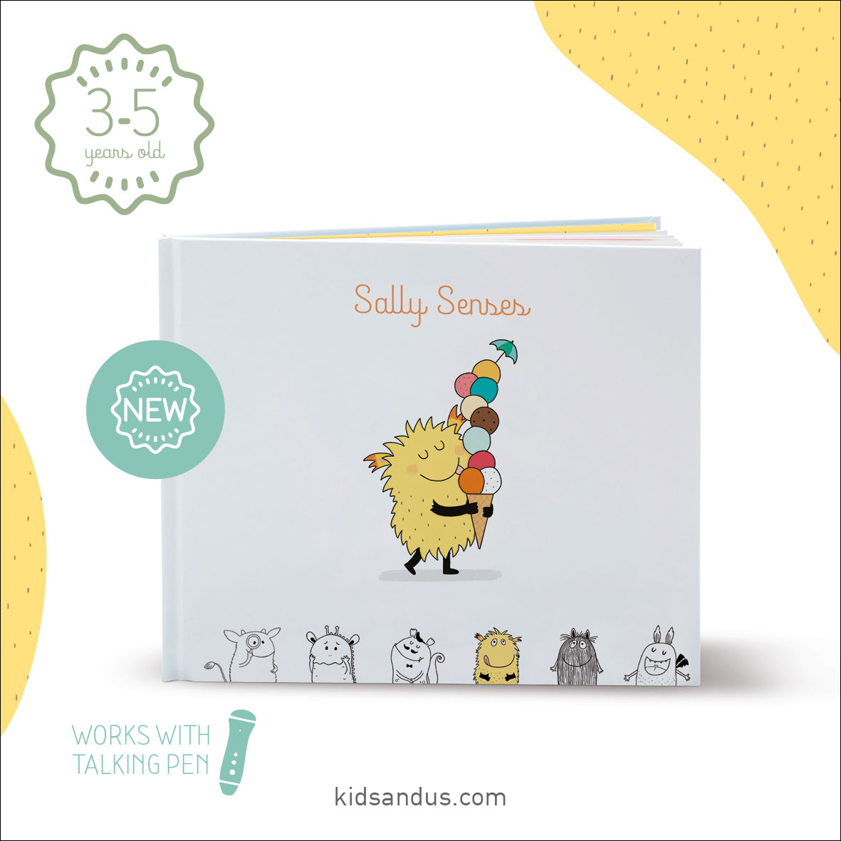 Sally Senses is the new children's book in English from Kids&Us