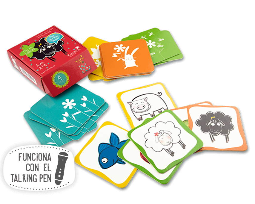 Joc de cartes de la Betty Sheep: Play with Colours