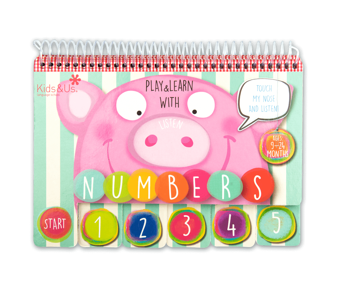 Libro Play&Learn with Numbers - Kids&Us - 0 a 2 años