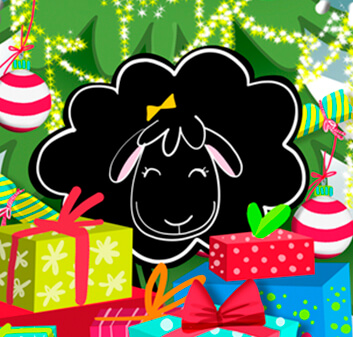 Betty Sheep Christmas printable